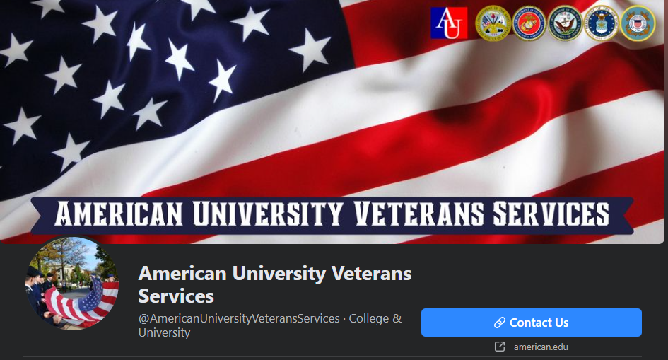 American University Veterans Services - FB Page